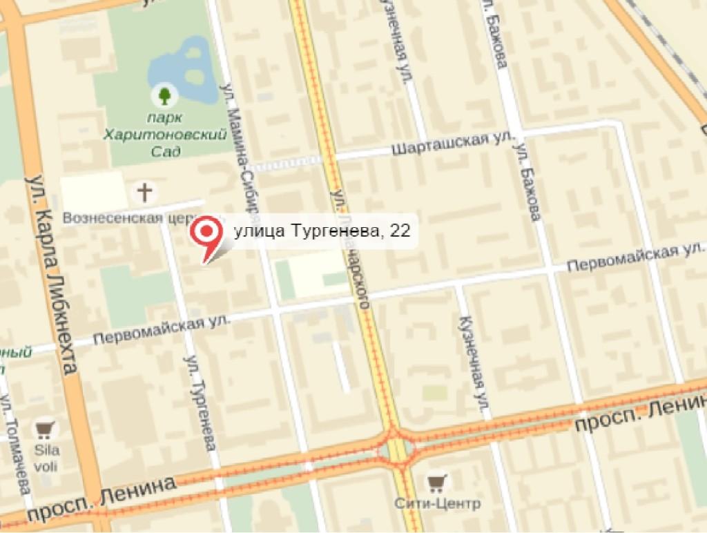 Карта офис Тургенева крупная